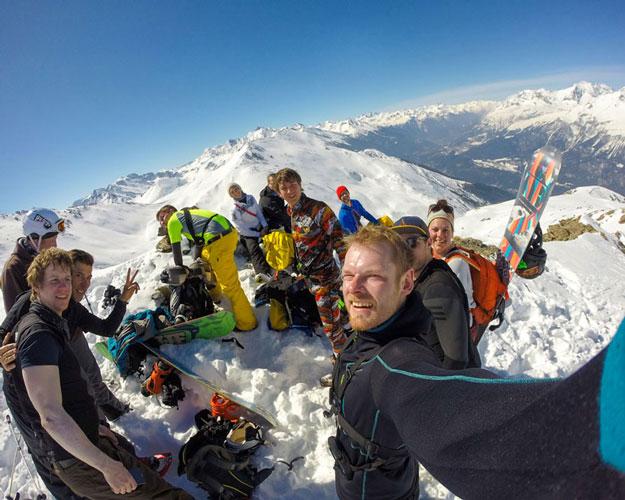 Gruppe Skireise Alpen