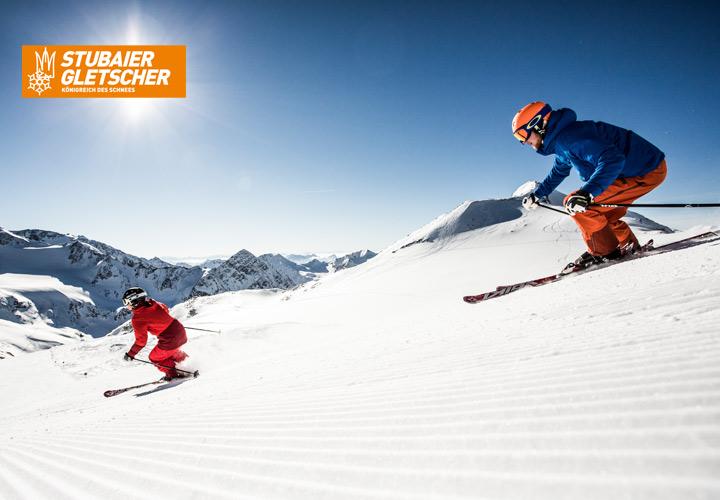 Stubaier Gletscher Skigebiet bei Schneebeben