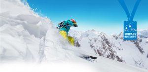 Skifahrer Tagesskifahrt Schneebeben