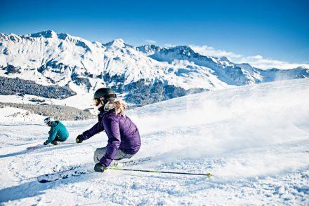 skifahrer berge view