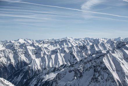 Sonniges Bergpanorama Hintertux