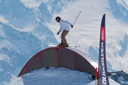 Skifahrer im Funpark Hintertux