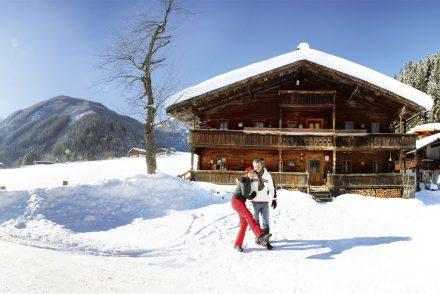 Gerlos Winterspaziergang Sonne Schneefall