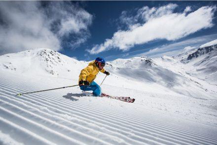 Skifahrer Carven Kaiserwetter
