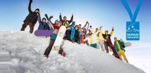 Gruppe Skifahren Urlaub Gruppenreise