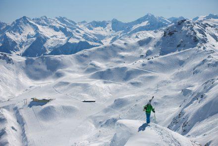 Panorama Berge Skifahren Tiefschnee