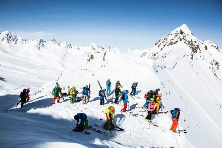 bergpanorama aussicht skigruppe