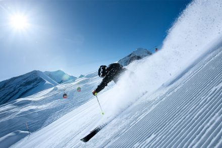 skifahren steilhang black mamba