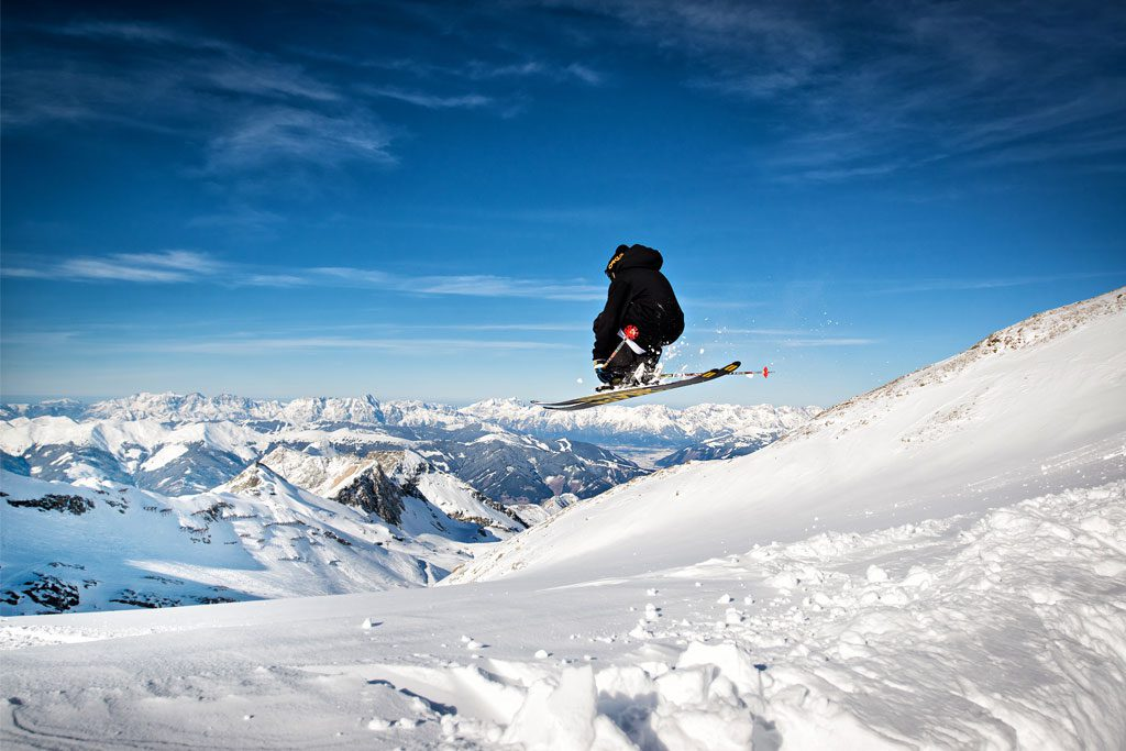 Skifahrer kitzsteinhorn