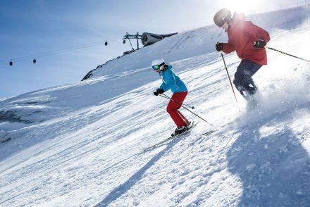 Skifahrer im Pitztal