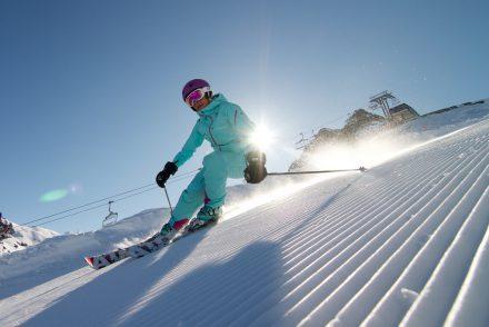 Skifahrer Carven Sonne Spaß