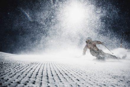 Schneenebel auf der Piste