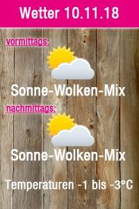 Wetterprognose 10.11.18