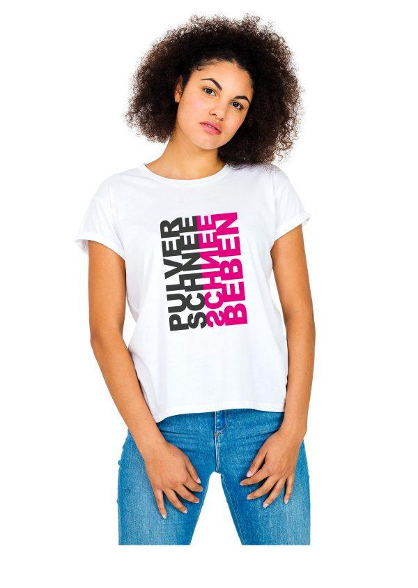 "Model Schneebeben T-Shirt weiss ""Pulverschnee"""