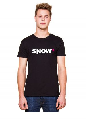 "Model Schneebeben T-Shir schwarz ""Snow"""