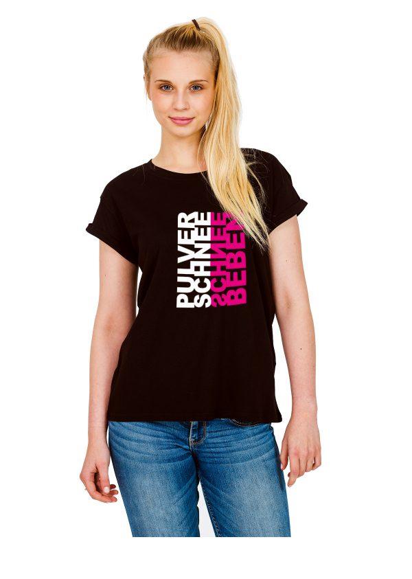 """Model Schneebeben schwarzes Shirt """"Pulverschnee"""""""