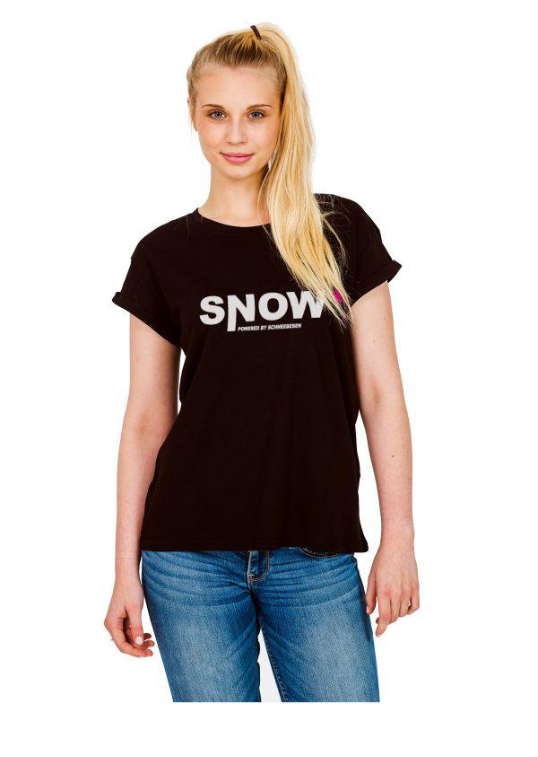 "Model Schneebeben schwarzes Shirt ""Snow"""
