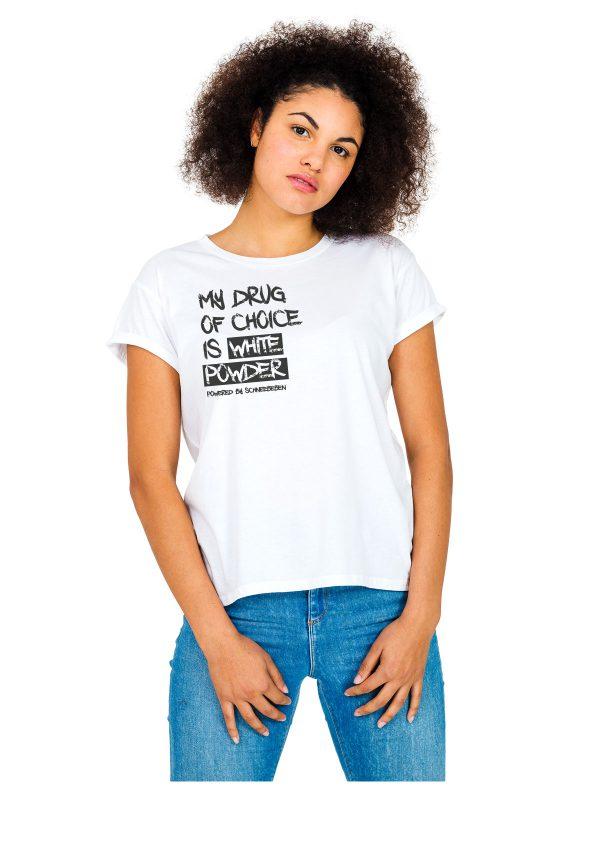 """Model Schneebeben T-Shirt weiss """"MyDrug"""""""