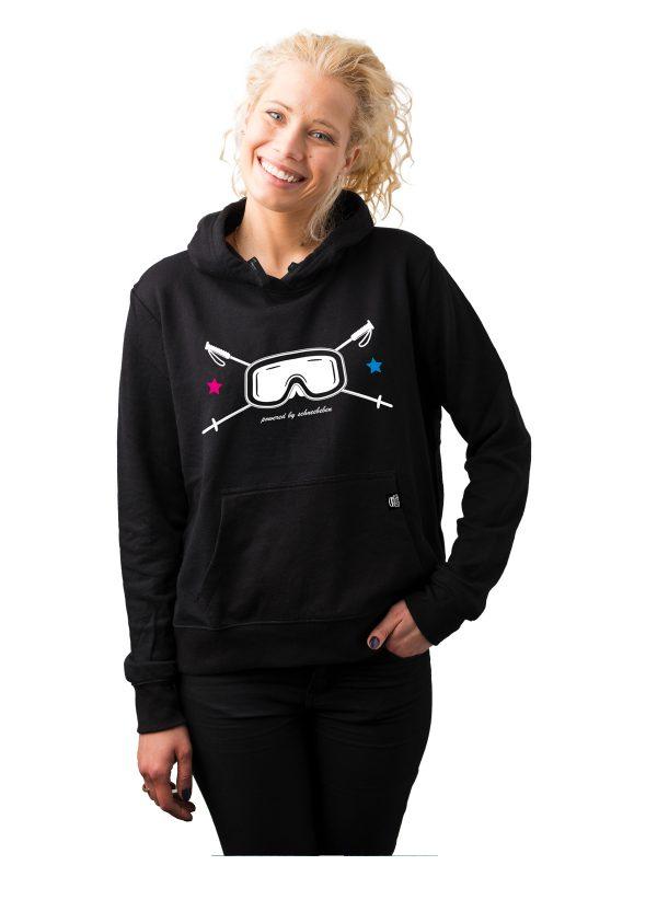 """Hoodie Female Model Schneebeben """"Skibrille"""""""