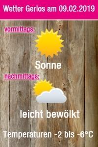 Wetter für Gerlos am 9. Februar 2019