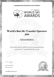 World Ski Award Zertifikat