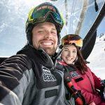 Paar im Lift Selfie