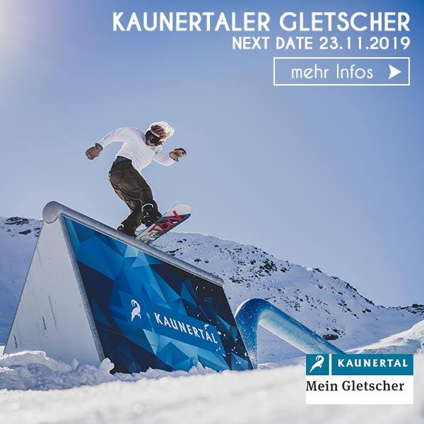 Snowboarder Funpark Rail Kaunertal