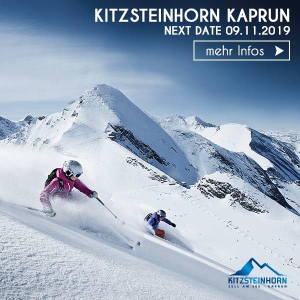 freeride Skifahrer Gletscher Kitzsteinhorn