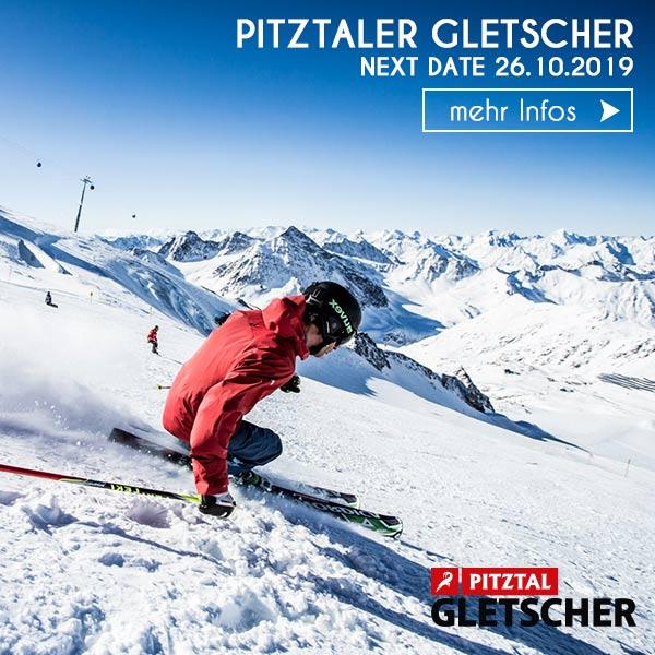 Skifahrer Piste Winter Urlaub Pitztal