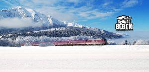 Schneebeben Party Zug