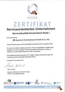 Zertifikat MB