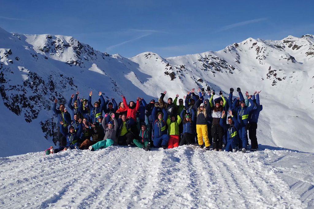Schneebeben Team Gruppe