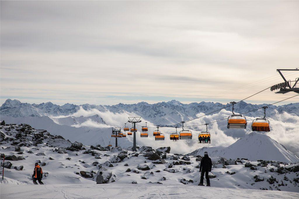 Sessellift Skigebiet Piste Berge