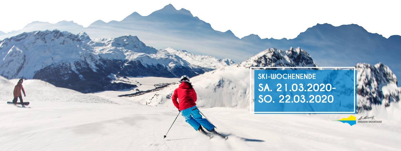 Skifahrer von hinten