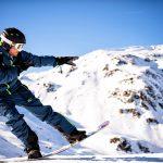 Schneebeben Snowboarder Berg