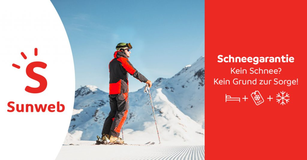 Skifahrer Plus Werbung