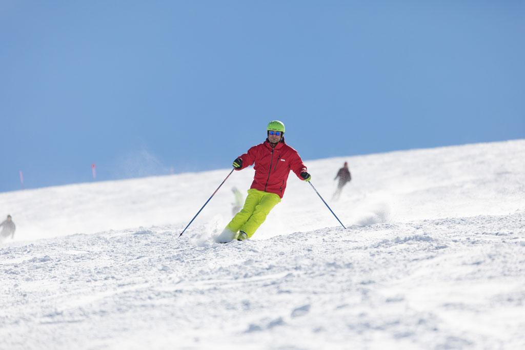 Piste Skifahrt Kaiserwetter