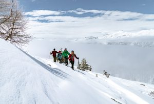 Wandern in den Bergen Arosa