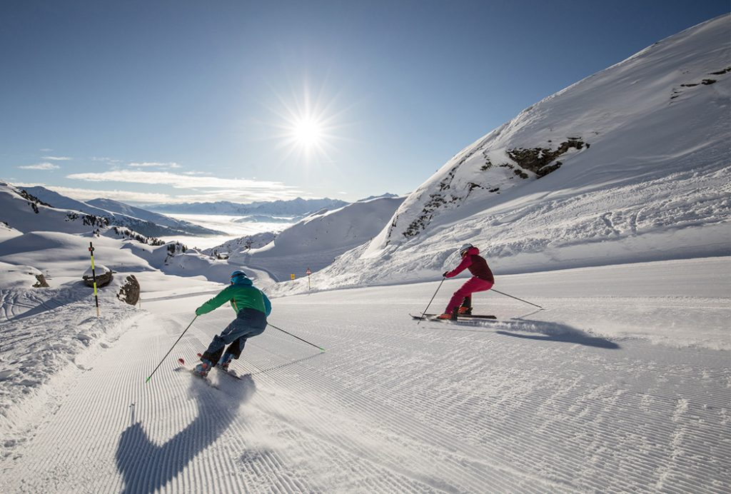 Skifahrer kaiserwetter