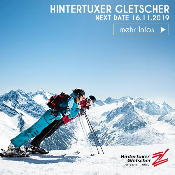 Paar Skiurlaub Hintertuxer Gletscher