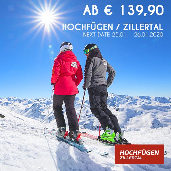 Skifahrer und Sonne