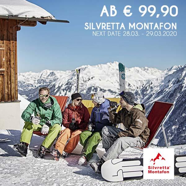 Montafon Wochenende Skiurlaub Schneebeben